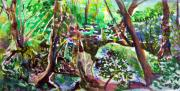 Creek Drawings - Hosack Cave Ohio by Mindy Newman