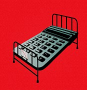 Risk Security Prints - Hospital Bed Costs, Conceptual Image Print by Stephen Wood