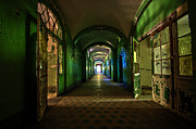 Ruinous Framed Prints - Hospital corridor Framed Print by Nathan Wright