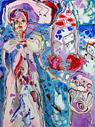 Shock Painting Originals - Hospital mistress by Ieva Busa