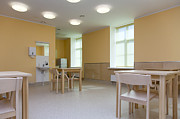 Empty Chairs Prints - Hospital Room With Tables and Chairs Print by Jaak Nilson