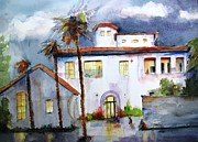 Santa Barbara Paintings - Hospitality House by Carlin Blahnik