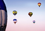 Balloon Fiesta Posters - Hot Air Poster by Angel  Tarantella