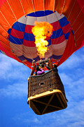 Burn Framed Prints - Hot Air Balloon Framed Print by Carlos Caetano