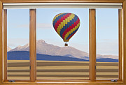 Picture Window Frame Photos Art - Hot Air Balloon Colorado Wood Picture Window Frame Photo Art Vie by James Bo Insogna