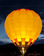 Hot Air Balloon Prints - Hot Air Balloon Glow Print by Gary Langley