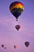 Hot Air Balloon Race - 3 Print by Randy Muir