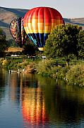 Water Prints - Hot Air Balloon Rally Print by David Patterson
