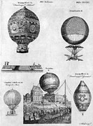 Spectator Prints - Hot-air Balloons, 1783-84 Print by Granger