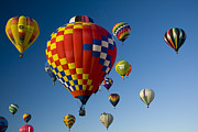 Urban Scenes Photos - Hot Air Balloons In A Hot Air Balloon by Ralph Lee Hopkins