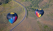 Blow Prints - Hot Air Balloons in Utah Print by Darcy Michaelchuk