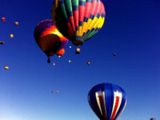Hot Air Balloon Painting Posters - Hot Air Balloons Poster by Jera Sky