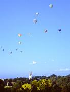 Hot Air Balloons Over Omaha Print by John Bowers