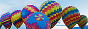 Fiesta Metal Prints - Hot Air Balloons Panorama Metal Print by Jim Chamberlain