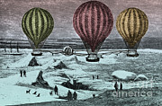 Color Enhanced Art - Hot Air Balloons by Photo Researchers