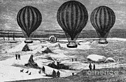 Aeronautic Framed Prints - Hot Air Balloons Framed Print by Science Source