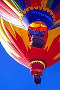 Two By Two Digital Art Posters - Hot Air Balloons  Poster by Steve Ohlsen