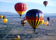 Balloon Fiesta Framed Prints - Hot Air over Albuquerque Framed Print by Dale Hart