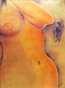 Womanly Painting Prints - Hot and Bothered Print by Sandy Ryan