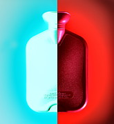 Hot Water Posters - Hot And Cold Water Bottle Poster by Kevin Curtis
