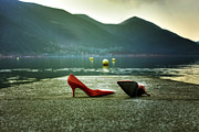 Shoe Photos - Hot And Red by Joana Kruse