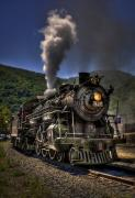 Locomotive Photo Framed Prints - Hot and Steamy Framed Print by Evelina Kremsdorf