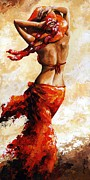 Scarf Posters - Hot breeze Poster by Emerico Toth