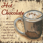 Text Words Posters - Hot Chocolate Poster by Debbie DeWitt