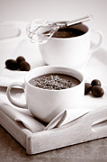 Toned Photograph Posters - Hot Chocolate Drinks Poster by Christopher and Amanda Elwell