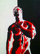 Figure Pose Paintings - Hot Day M three by K Jurva