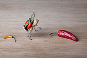 Hot Peppers Prints - Hot Delivery 01 Print by Nailia Schwarz