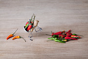 Hot Peppers Prints - Hot Delivery 02 Print by Nailia Schwarz