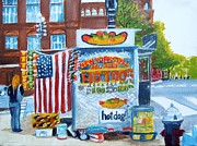 Fast Paintings - Hot Dog Man by Pauline Ross