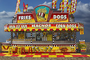 Corn Dogs Framed Prints - Hot Dog Vendor Stand Framed Print by Randall Nyhof