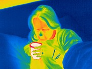Convalescing Framed Prints - Hot Drink, Thermogram Framed Print by Tony Mcconnell