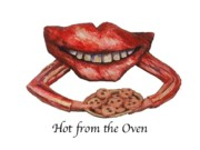 Cartoonish Art - Hot from the Oven by Betty OHare