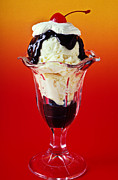 Cheery Prints - Hot fudge sundae Print by Garry Gay