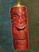 Polynesian Pop Posters - Hot Headed Tiki Poster by Shawn Shea