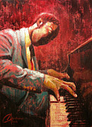 Jazz Artwork Painting Originals - Hot Jazz II by Christopher Clark