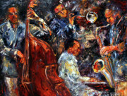 Trumpet Paintings - Hot Jazz three by Debra Hurd