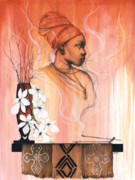 African-american Mixed Media Prints - Hot Like Fire Print by Anthony Burks