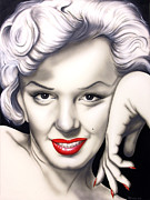 Portrait Of Marilyn Monroe Painting Originals - Hot Lips by Bruce Carter