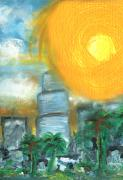 Miami Heat Mixed Media - Hot Miami Sky by Jorge Delara