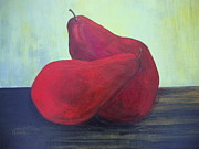 Interior Still Life Painting Metal Prints - Hot Pears Metal Print by Donna Van Eeghen