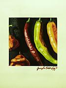 Hot Peppers Painting Originals - Hot Peppers by Jamey Balester