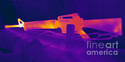 Hot Gun Posters - Hot Rifle Poster by Ted Kinsman