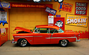 Hot Color Prints - Hot Rod BBQ Print by Perry Webster