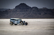 Hot Rod Car Posters - Hot Rod Bonneville Salt Flats 2012 Poster by Holly Martin
