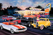 American Car Photos - Hot Rod Drive In by Bruce Kaiser