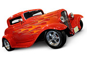 Hot Rod Flames Framed Prints - Hot Rod Ford Coupe 1932 Framed Print by Oleksiy Maksymenko